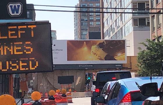 construction zone billboard