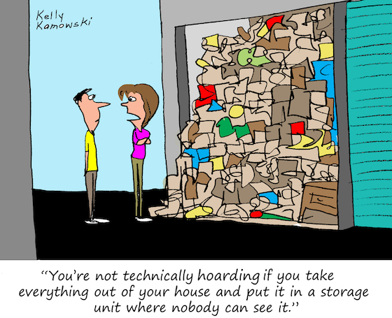 self storage cartoon