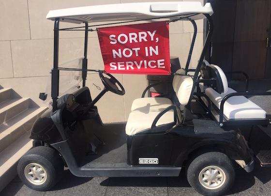 self storage golf cart sign