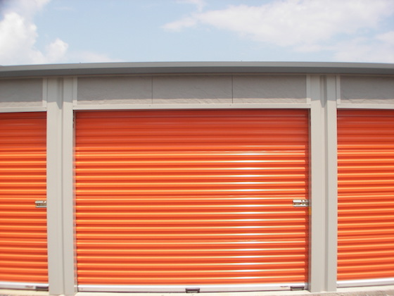 orange storage door