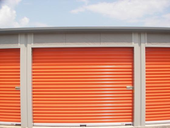 orange storage door