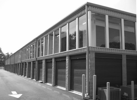 black and white storage facility